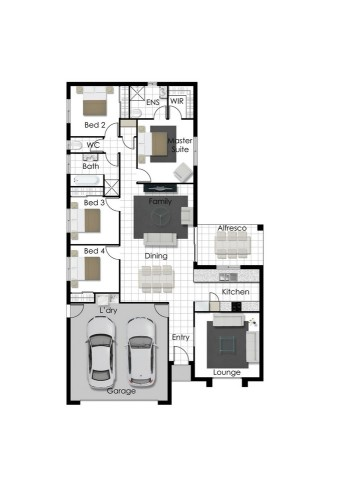 Casey- Left Floorplan