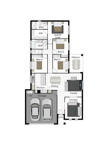Daniel - Left Floor Plan