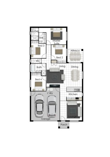 Franklin - Left Floorplan