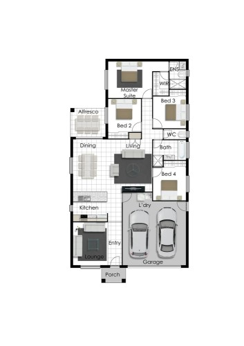Franklin - Right Floorplan