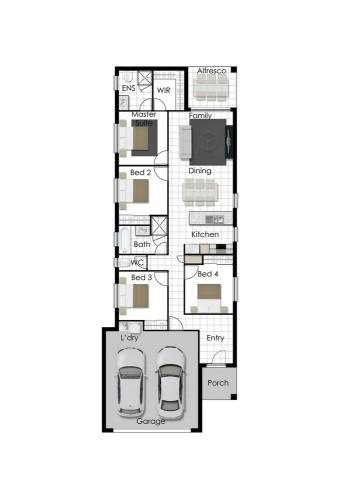 Jordan - Left Floorplan