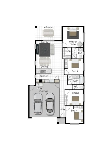 Leeann - Left Floorplan